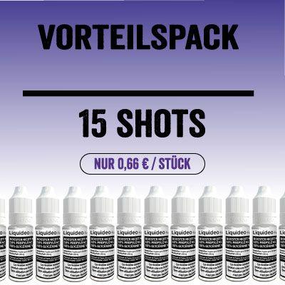 Liquideo Nikotinshot / Nikotinbooster - Vorteilspack