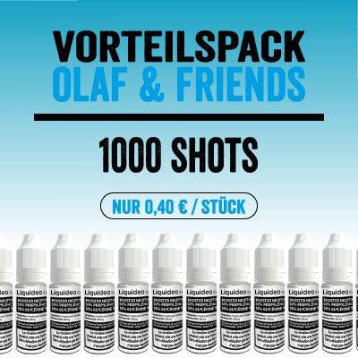 "Liquideo Nikotinshot / Nikotinbooster - Vorteilspack ""Olaf & Friends"""
