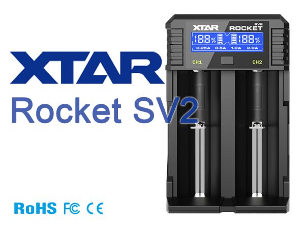 XTAR Rocket SV2 Ladegerät für Li-Ionen Akkus