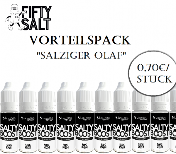 "Liquideo Nikotinsalz Booster - Vorteilspack ""Salziger Olaf"""