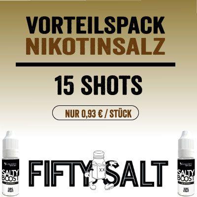 Liquideo Nikotinsalz Shot/Booster - Vorteilspack